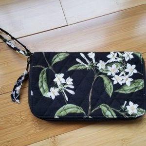 Vera Bradley Jasmine Floral Wristlet Wallet